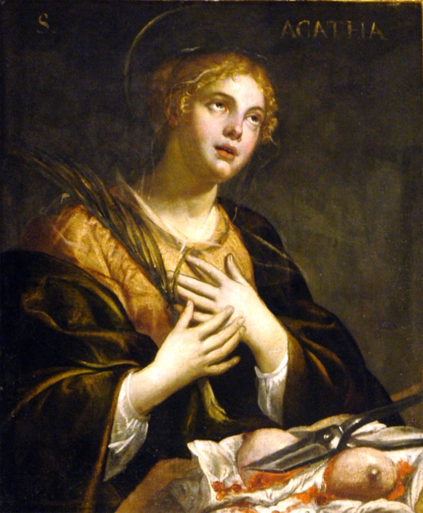 Image result for persecution of saint Agatha